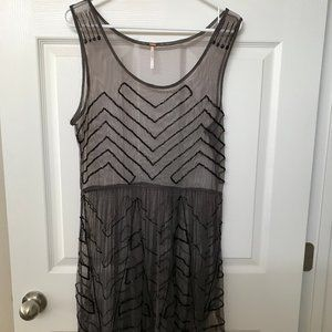 Free People Sheer Tunic with Sparkling Sequins